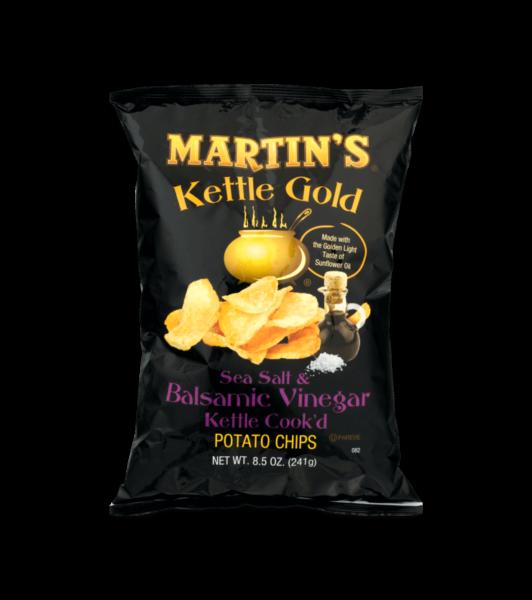 Martin's Kettle Gold Potato Chips Sea Salt & Balsamic Vinegar