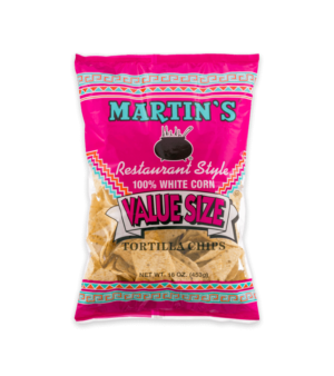 Martin's 100% White Corn Restaurant Style Tortilla Chips Value Size