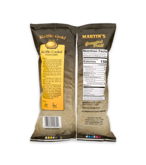 Martin's Kettle Gold Potato Chips Golden Russet Kettle Cook'd